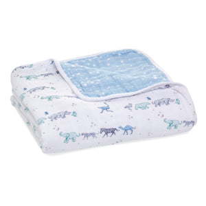 Cotton Muslin Rising Star - Follow the Stars classic dream blanket