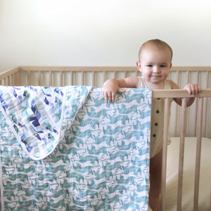 Cotton Muslin Dancing Tigers classic dream blanket