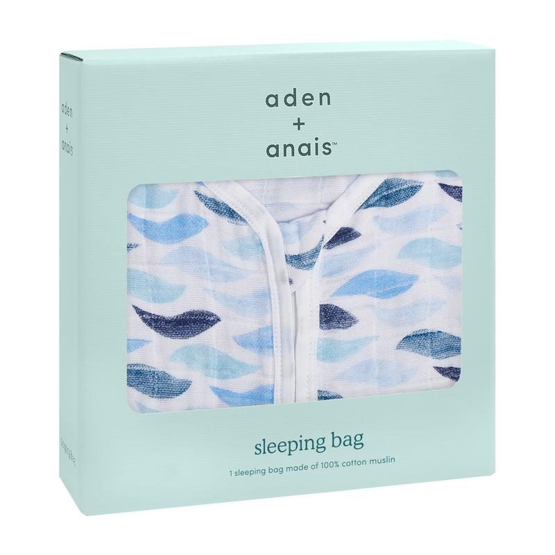 aden+anais gone fishing-1 tog classic sleeping bag (S, M, L or XL)