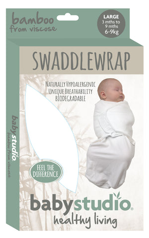 0-3M SWADDLEWRAP BAMBOO SMALL ONLY - BRIGHT WHITE