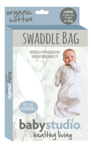 ALL IN ONE ORGANIC COTTON 1.0 TOG SWADDLE BAG 3-9M - VARIOUS DESIGNS