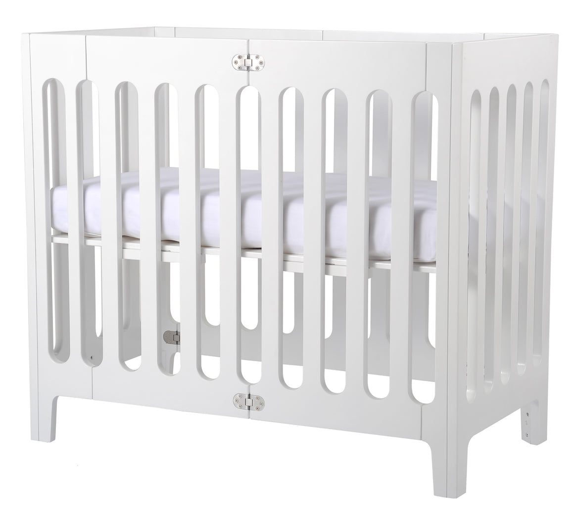 Alma Mini Crib Coconut White (excluding mattress)