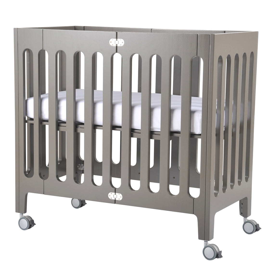 Alma Mini Crib Frost Grey (excluding mattress)