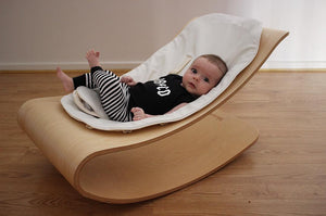 coco stylewood - natural with coconut white ORGANIC seat pad