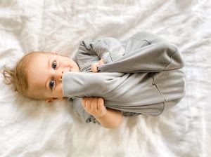 3-9M ALL IN ONE SWADDLE BAG BAMBOO LARGE - WARM GREY