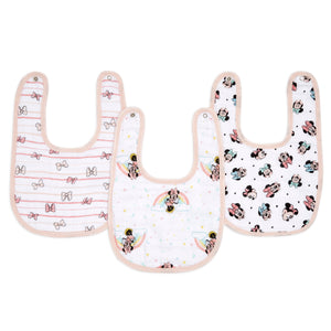 aden + anais essentials DISNEY Minnie 3 pack snap bibs