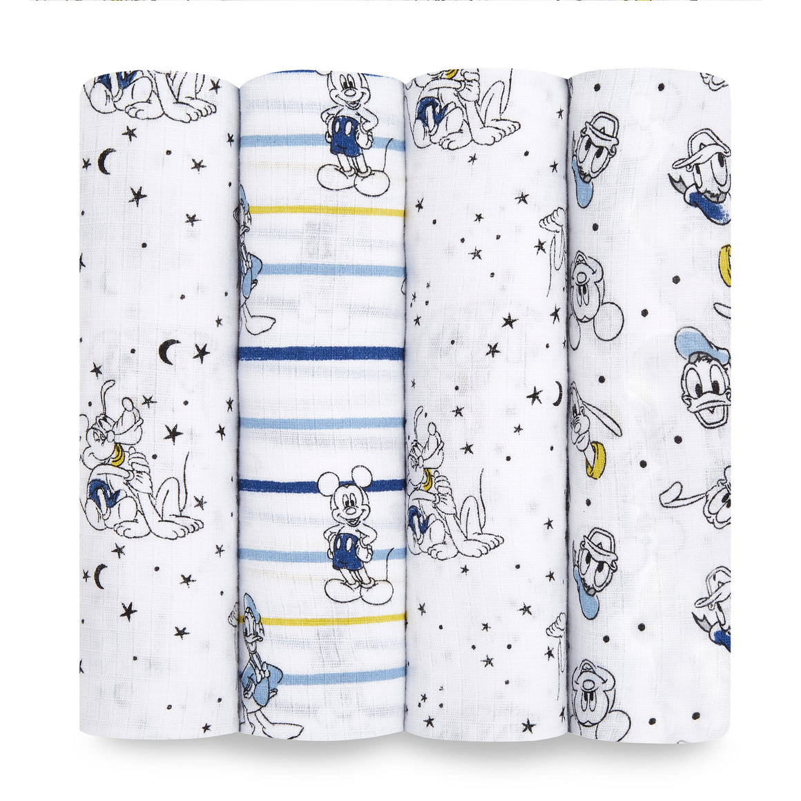 aden+anais essentials DISNEY Mickey 4 pack muslin swaddles