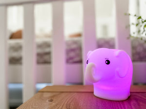 Soft Silicon Night Light - Elephant