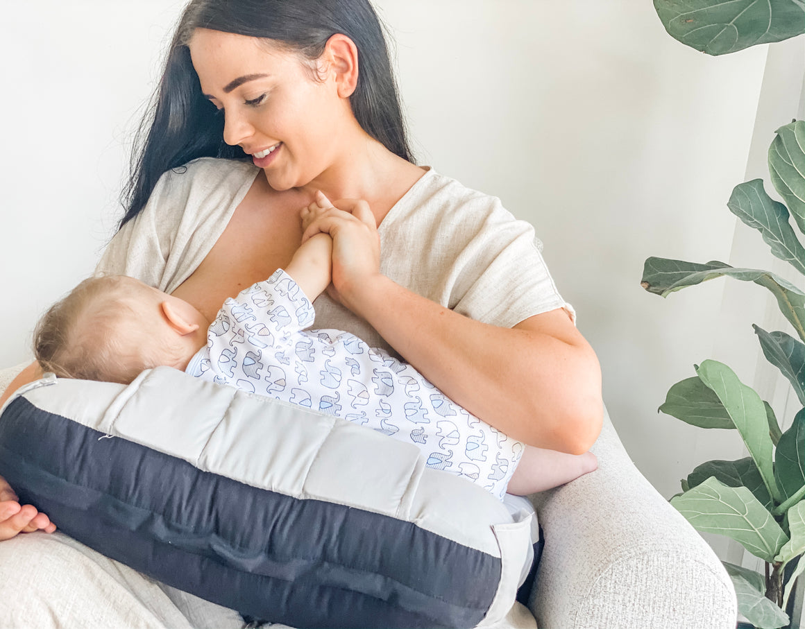 5-in-1 Breast Feeding Pillow with Toy Bar