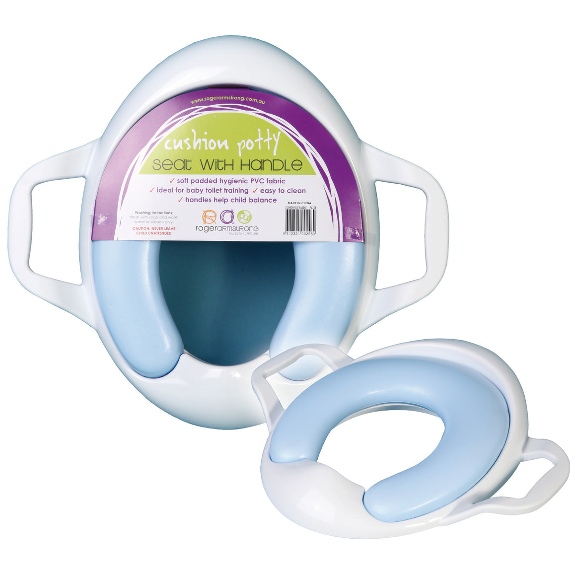 Cushion Potty Toilet Seat with handle