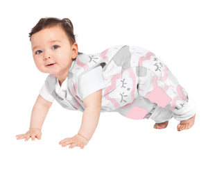 6-12M MY FIRST COOLIES SLEEPING BAG NO ARMS COTTON 1.0 TOG - CLOUDS PINK