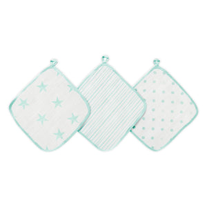 aden dream muslin washcloths 3-pack
