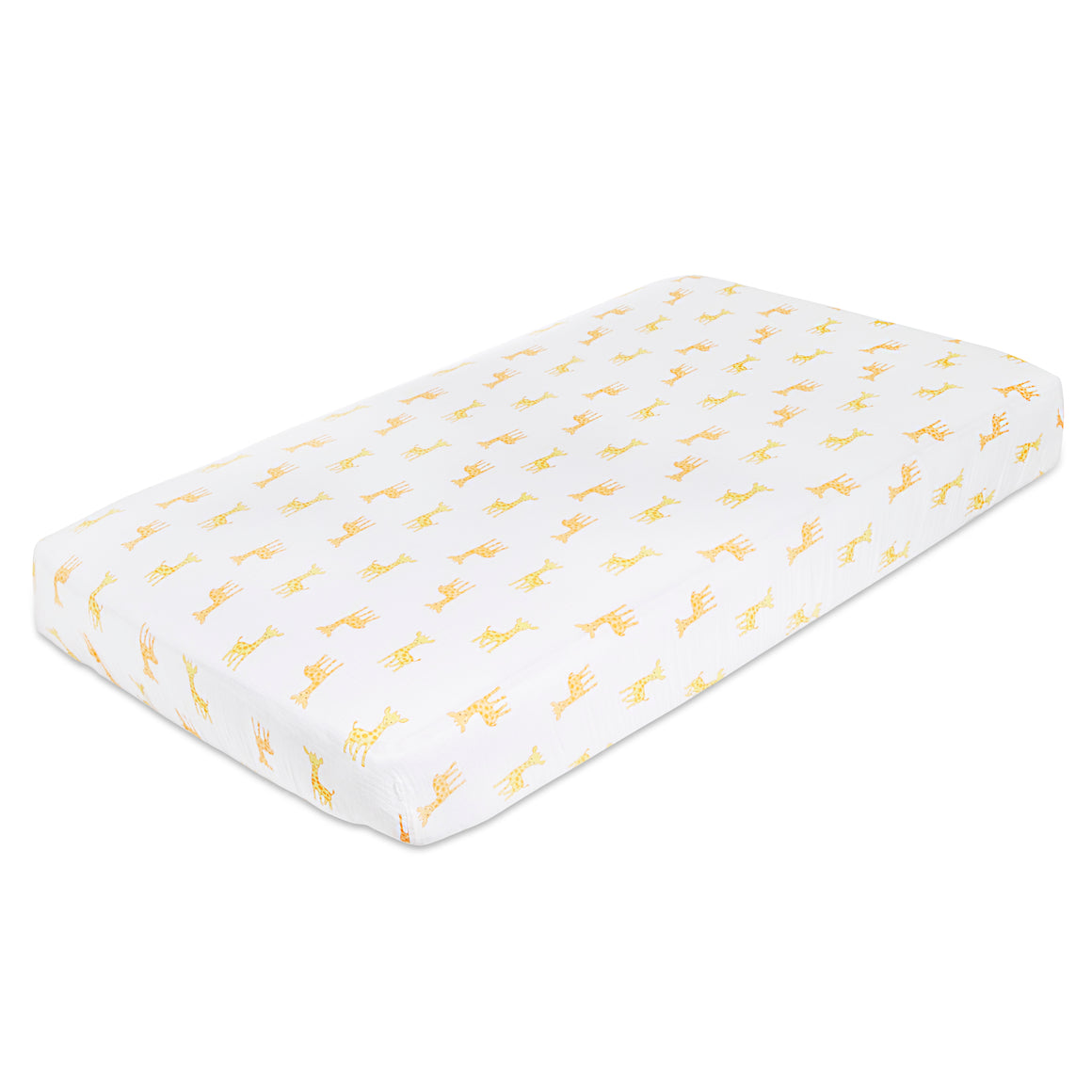 aden safari babes giraffe classic muslin fitted cot sheet single