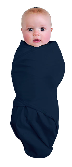 BAMBOO SWADDLEWRAP SMALL 0-3M / LARGE 3-9M 0.2 TOG - NAVY