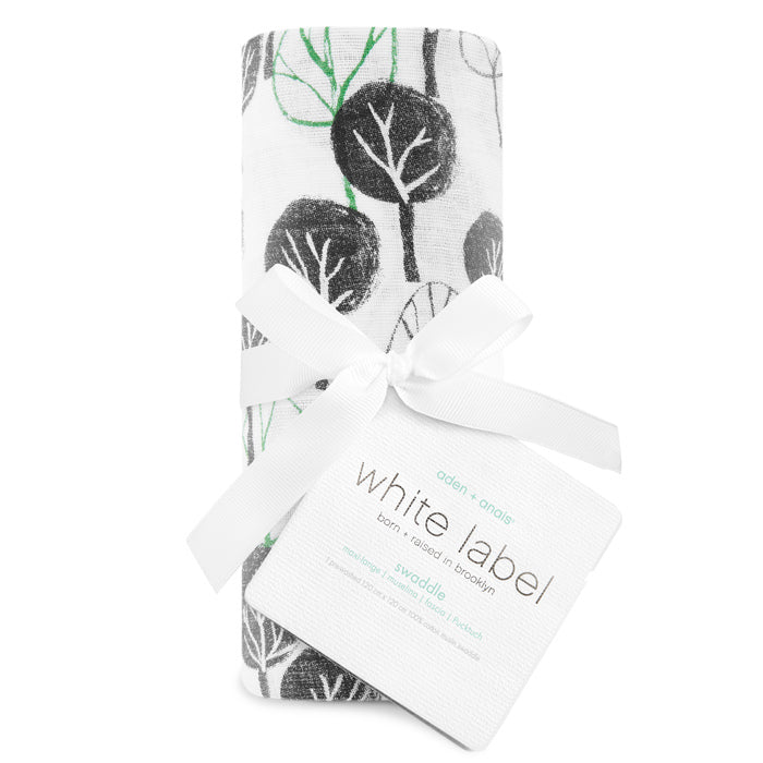 aden+anais white label sage advice -wilderness classic single swaddle
