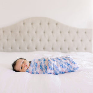 aden + anais deco butterflies classic single swaddle