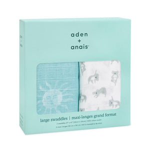 aden + anais now + zen 2-pack muslin swaddles