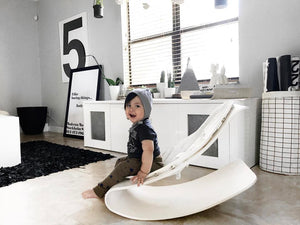 coco stylewood - beach house white frame with coconut white ORGANIC seat pad