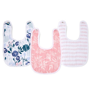 aden + anais essentials Flowers Bloom 3pk Snap bib