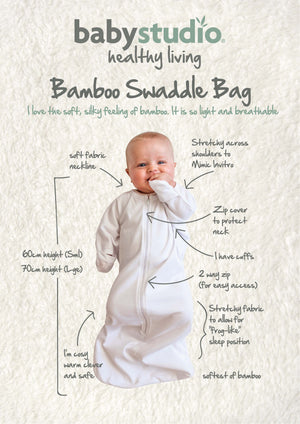 3-9m All in One Swaddle Bag Bamboo 0.5 TOG  - WARM GREY