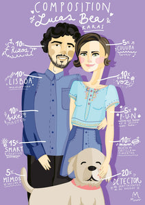 "Retrato personalizado ""Composition"" Parejas"
