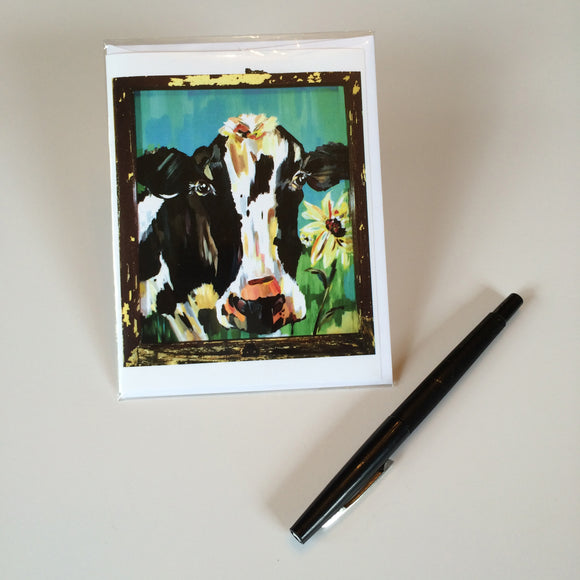 2014 Rustic Cow Design 1 Greeting Card