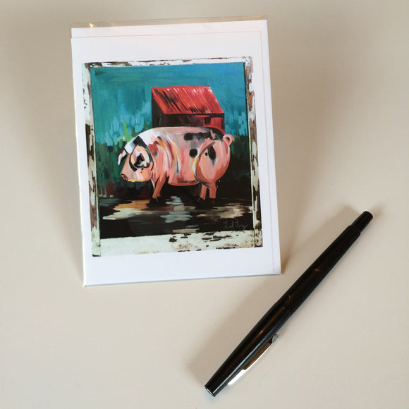 2014 Pig Design Greeting Card
