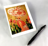 Lady in Red Design Greeting Card
