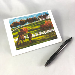 2016 Versailles Horse Farm Greeting Card