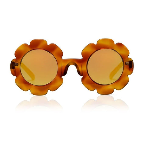Pixie - Creme Brulee w/ Mirror Sunglasses