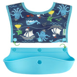 Snap & Go™ Silicone Food-catcher Bib (3-in-1 Set)