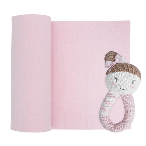 Sophia The Ballerina Rattle & Muslin Gift Set