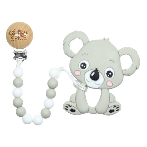 Koala Silicone Teether with Pacifier Clip