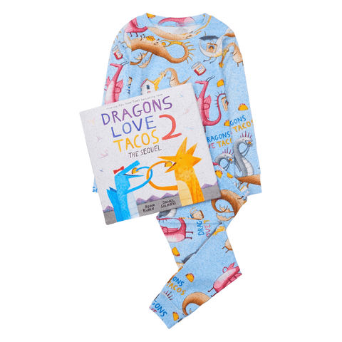 Dragons Love Tacos 2 Pajamas and Storybook Set