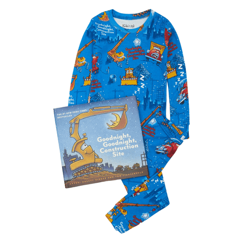 Goodnight, Goodnight, Construction Site Pajamas and Storybook Set