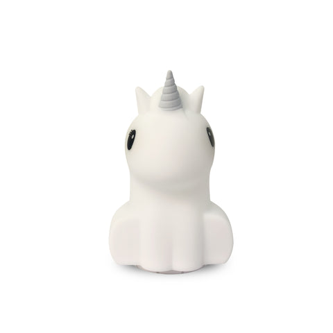 Duski Rechargeable LED Bluetooth Speaker Night Light - Silver Unicorn