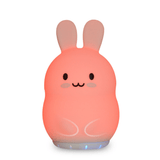 Duski Bunny LED Silicone Rechargeable Night Light with Bluetooth Speaker