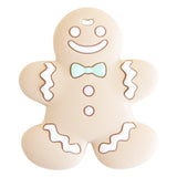 Gingerbread Silicone Teether with Pacifier Clip - Mint
