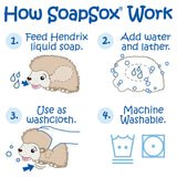 SoapSox Hendrix the Hedgehog Bath Toy Sponge