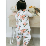 Little Unicorn Cotton Muslin Romper - Watercolor Roses
