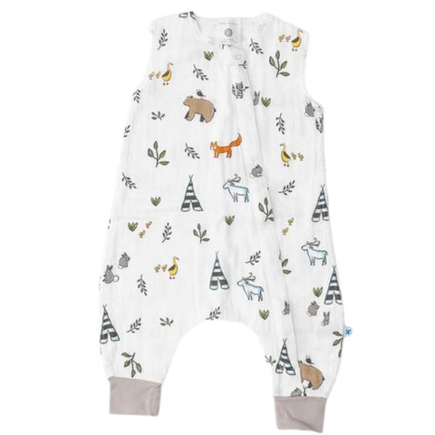 Little Unicorn Cotton Muslin Romper - Forest Friends
