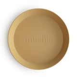 Mushie Round Plates, Set of 2 (Mustard)