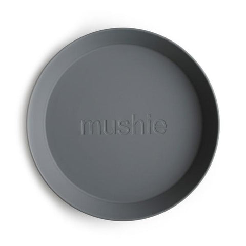 Mushie Round Plates, Set of 2 (Smoke)