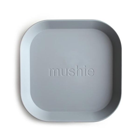 Mushie Square Plates, Set of 2 (Cloud)
