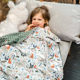 Light Toddler Blanket - Large - Morning Melody | Papaya