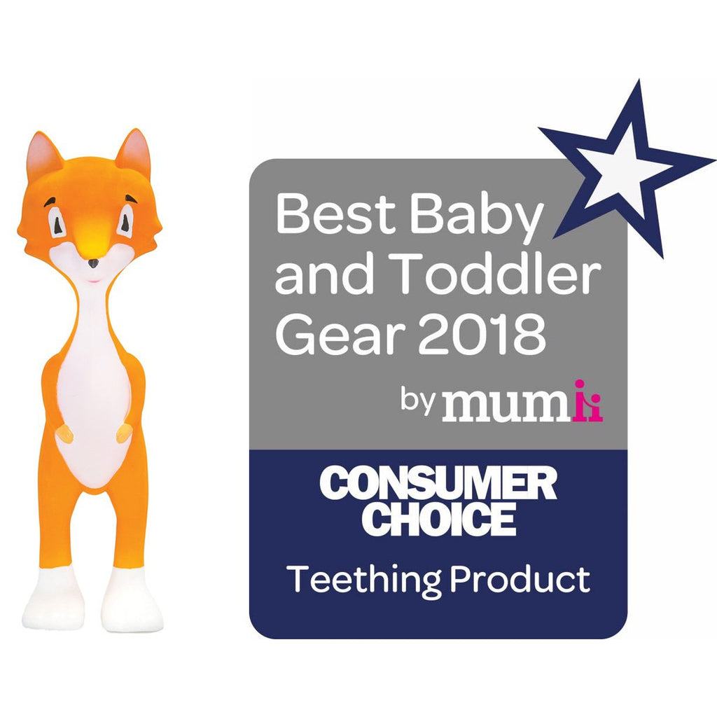 Ethan the Fox Teething Toy Best Baby /&Toddler 2018 100/% Natural Rubber nonToxic