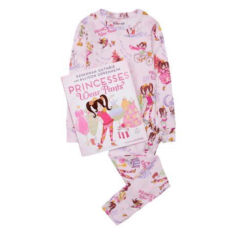 Princesses Wear Pants Pajamas and Storybook Set