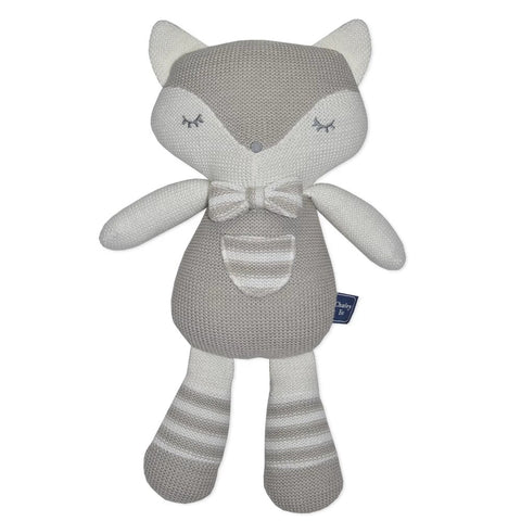 CHARLIE THE FOX KNITTED TOY
