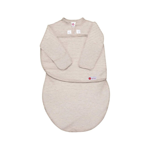 Organic Starter Classic 2-Way Long Sleeve Swaddle (0-4mos) | Heathered Oatmeal Stripe