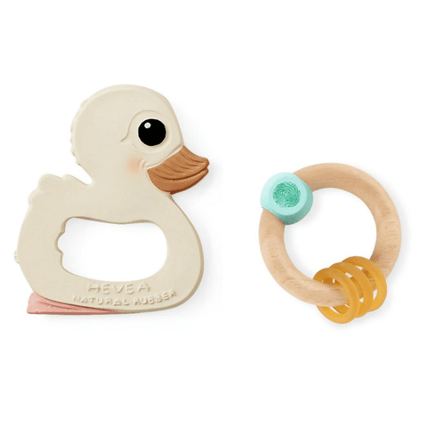 Hevea Kawan Teether & Rattle Gift Set